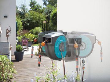 Bộ vòi tưới cây treo tường dây cuốn tự động 15m Gardena 08022-20 - Nhập khẩu CH Séc